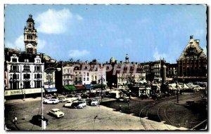 Modern Postcard Lille General de Gaulle Square