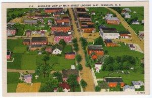 Franklin, N.C., Bird's Eye View Of Main Street Looking East
