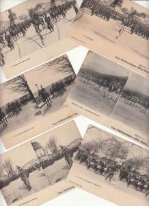 Lot 6 stereo postcards stereographic views french army military parades uniforms