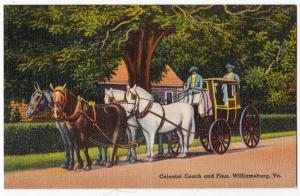 Colonial Coach & Four, Williamsburg VA