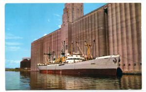 SS Pioneer Grain Ship Terminal Superior Wisconsin postcard