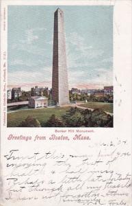 Massachusetts Boston Greetings From Boston 1904