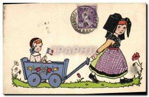 Old Postcard Fun Children Doll Alsace