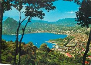 Postcard Switzerland Lugano Castagnola monte S Salvatore