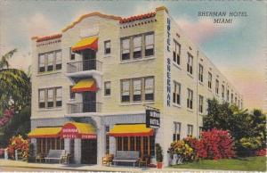 Florida Miami The Sherman Hotel 1945