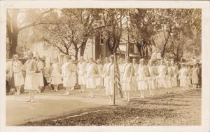 RP; Parade, WINNIPEG, Manitoba, Canada, 1931; Uniformed women waiting to march