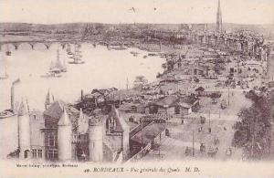 France Bordeaux Vue generale des Quais