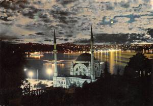 Turkey Old Vintage Antique Post Card Mehtapli bir gecede Istanbul Postal used...
