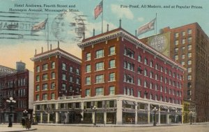 MINNEAPOLIS, Minnesota, 1912; Hotel Andrews, Fourth St. and Hennepin Ave.