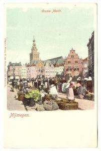 Market, Groote Markt, Nijmegen (Gelderland), Netherlands, 1900-1910s