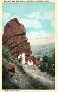 Morrison, CO, Park of the Red Rocks, Denver Mt. Parks, Vintage Postcard g8381