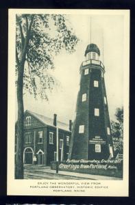 Portland, Maine/ME Postcard, Portland Observatory #2