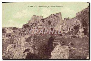 Old Postcard Les Baux Ruins of Chateau des Baux