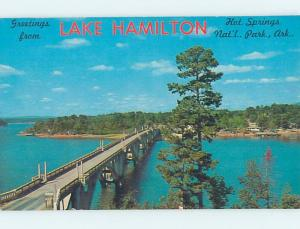 Pre-1980 GREETINGS FROM POSTCARD Hot Springs National Park Arkansas AR ho5589