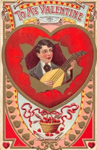 G20/ Valentine's Day Love Holiday Postcard c1910 Cupids Hearts 6