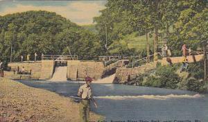 Twin falls, Roaring river state park, near Cassville, Missouri, 30-40s