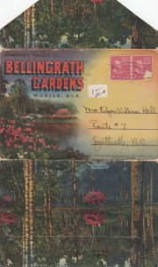 BELLINGRATH GARDENS , Mobile , Alabama , 1953 ; Folder Postcard