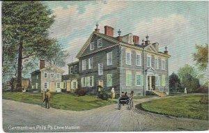 Vtg Germantown, Philadelphia, PA, Chew Mansion Postcard
