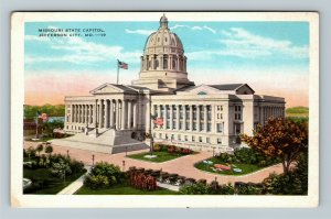 Jefferson City MO-Missouri, Missouri State Capitol, Vintage c1929 Postcard