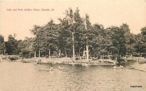 C-1905 Lake Park Soldiers Home Tom Jones Danville Illinois postcard 12627