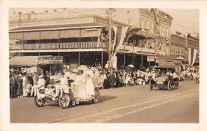 Astoria Hotel Auto Parade Photo Sign Real Photo Vintage Postcard JD228108