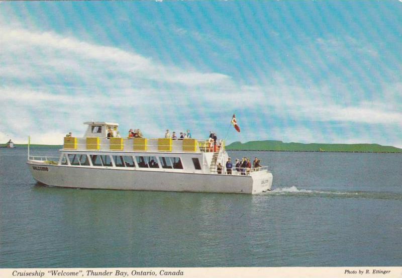 Cruiseship, Welcome, Thunder Bay,  Ontario,  Canada,  50-70s