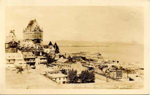 Canada - Quebec. Quebec City. View from the Citadel, Hotel Frontenac **RPPC
