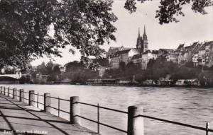 Switzerland Basel Rhein mit Muenster Photo