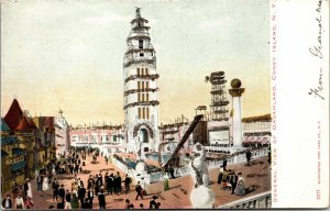 vintage Dreamland From the Chutes Coney Island NY - NEW YORK POSTCARD 1906