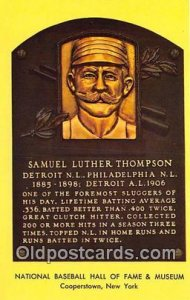 Baseball Postcard Base Ball Post Card Samuel Luther Thompson Hall of Fame unused
