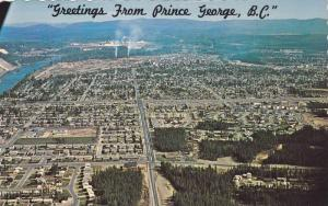 Scenic Greetings from Prince George,  B.C.,  Canada,   40-60s