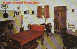 Henry Onstot Residence Interior New Salem State Park Illinois 1963