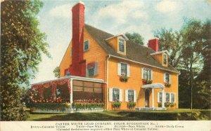 Detroit Michigan Paint Advertising Carter White Lead C-1910 Postcard 21-6962