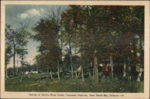 Martin River Camp Ferguson Highway Near North Bay Ontario Postcard