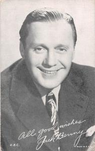 Jack Benny Non Postcard Backing Unused