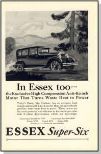 Stylish 1927 Essex Super-Six Car/Auto/Automobile Ad