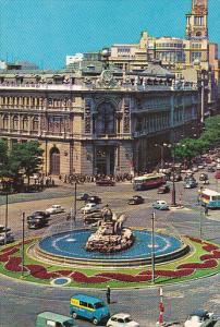 Water Fountain, Plaza de la Cibeles, Madrid, Spain, 40-60's