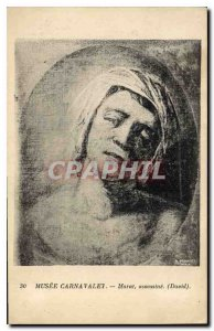 Old Postcard Musee Carnavalet Marat murdered David