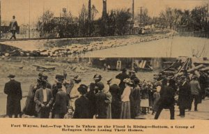 FORT WAYNE , Indiana, 1900-10s ; Flood