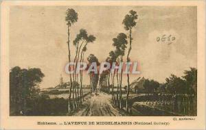 Postcard Old Hobbema The Avenue of Middelharnis National Gallery
