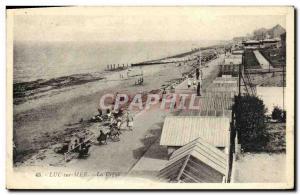 Old Postcard Luc Sur Mer The dam