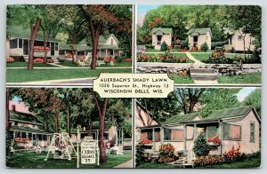 Wisconsin Dells Wisconsin~Auerbach's Shady Lawn~4 Views~Cabins~1940s