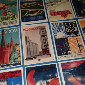 Set of 12 New Postcards, Russia, Soviet, USSR, CCCP, Vintage Travel Posters 85L