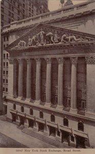 NEW YORK CITY, New York, 1900-10s; New York Stock Exchange, Broad Street