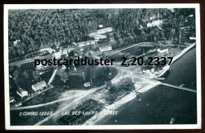 2337 - LAC DES LOUPS Quebec 1940s O'Connell Lodge Aerial View.