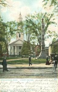 Springfield Mass, Court Square, 1905 used Postcard