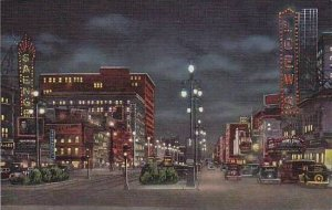 Louisiana New Orleans Canal Street At Night