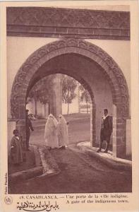 Morocco Casablanca A Gate Of The Indigenous Town 1920s-30s