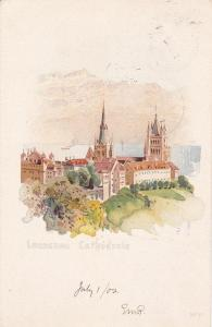 LAUSANNE, Switzerland, PU-1902; Lausanne Cathedrale