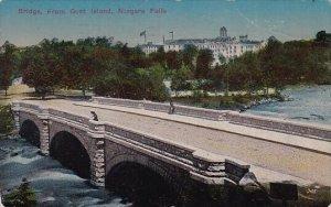 New York Niagara Falls Bridge From Goat Island 1914
